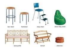 English 4 design Learn English, Bar Stools, Home Furniture, Dining Chairs, House, English Vocabulary, Design, Home Decor, Tips