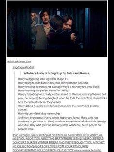AU where Harry is raised by Sirius!