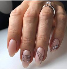 Nude manicure: 30 ideas to note – Summer Nails – Nail Trends Elegant Nails, Stylish Nails, Classy Gel Nails, Short Nail Designs, Nail Art Designs, Nude Nails, Acrylic Nails, Hair And Nails, My Nails