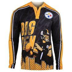 aa0e254b915 Pittsburgh Steelers Roethlisberger B.  7 Official NFL Polyester Player  Hoody Tee. HoodyPulloverNfl SweatshirtsTeesJacketsSport ...