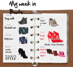 """My week in Boots"" by no-where-girl ❤ liked on Polyvore"