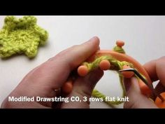 Loom Knitting: Picot Star - 6 pointed flower - YouTube