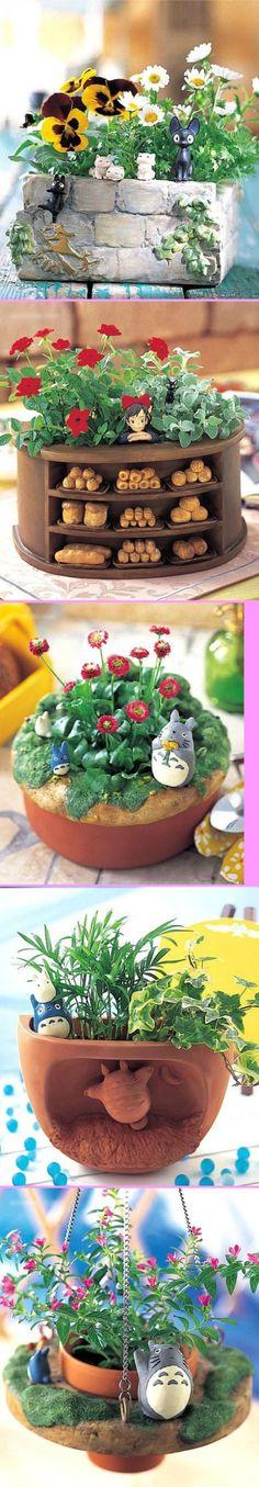 宫崎骏动画主题花盆.这个果断被萌翻