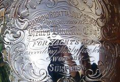Trophy cup régatta silver 1873