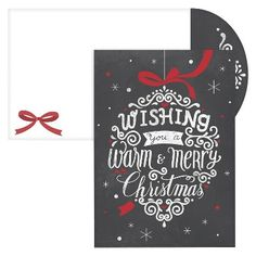 Chalkboard Ornament Boxed Cards - 16 Count : Target