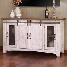 SCI offers a huge selection of TV Stand white,white TV,white wash TV Stand,white TV console and wood white TV stand pine. Furniture Direct, Furniture Companies, Home Furniture, Farmhouse Furniture, Barn Door Tv Stand, 60 Tv Stand, White Tv Stands, Barn Style Doors, Nebraska Furniture Mart