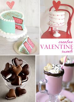These yummies are idea Valentines Day delites or perfect as wedding cakes. Either way so pretty!