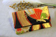 Japanese Kimono Obi Clutch Bag Japanese Kimono, Clutch Bag, Bags, Handbags, Clutch Bags, Clutch Purse, Bag, Clutches, Totes