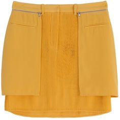 HP!  3.1 Phillip Lim Yellow Silk Mini Skirt Gorgeous and brand new with tags skirt from 3.1 Phillip Lim. Retailed for $495. Size 0. Fine silk in a golden yellow color. Accordion pleats and large pockets with side zippers. This is such a unique and very detailed piece. Never worn! ✨ 3.1 Phillip Lim Skirts Mini