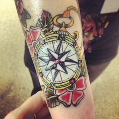Compass tattoo. Designed by Amy Lappin, tattooed by Charlie @ London tattoo south