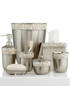 Silver And Gold Bathroom Accessories