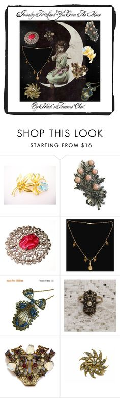 """""""Jewelry To Send You Over The Moon"""" by heidi-calamia-galati ❤ liked on Polyvore featuring vintage"""