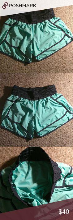 Lululemon shorts Lululemon running shorts teal color shorts size 10 lululemon athletica Shorts
