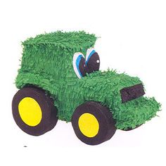 This fun Tractor Piñata features a green tractor with large eyes! This traditional piñata must be broken to release treats. (sold separately) Can be used a decoration or as a centerpiece! Tractor Piñata holds up to of treats and measures 7 inches x 18 Birthday Pinata, Tractor Birthday, Pinata Party, Farm Birthday, 3rd Birthday Parties, Birthday Ideas, December Birthday, Cowboy Birthday, Third Birthday