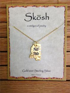 skosh hail state necklace gold more skosh hail mississippi states hail ...