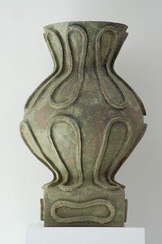 """PETER SCHLESINGER  January 26 – March 16, 2012  Verdigris, 2007  Glazed stoneware 32"""" X 22""""  Duke & Duke"""