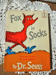 1965 Vintage Fox in Socks Book  by Dr Seuss by BonniesVintageAttic, $24.95    This is the first book in English that I ever read! I read it to my dad while sitting on his lap when I was four years old. I plan on getting my daughter a copy for her to read to her papa too!