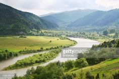 A view of a Stryi River valley near Shidnytsia, Lviv region,... #truskavets: A view of a Stryi River valley near Shidnytsia,… #truskavets