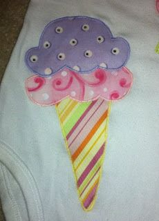 Sewing Chick: Cupcakes and Ice Cream Appliques