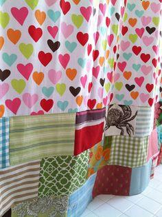 Love Hue Design: Shower Curtain Scrap-It