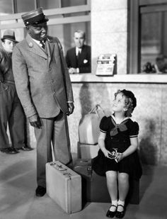 """Sam McDaniel (Hattie's brother) and Shirley Temple In """"Poor Little Rich Girl,"""" 1936"""