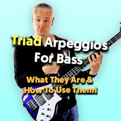 In this lesson we look at triads for bass guitar. Triads are 3 note chords and a great introduction to chord tones and bass line creation Bass Guitar Pickups, Bass Guitar Chords, Learn Bass Guitar, Bass Guitar Lessons, Guitar Scales, Bass Guitars, Best Guitar Players, Music Theory, Feeling Happy