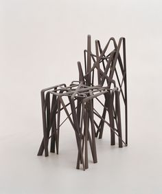 Solid chair (c2) by French designer Patrick Jouin. 3D-printed in one piece. Jouin's creations are part of the collections of MoMA, Mudam, and Centre Pompidou.