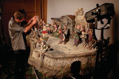 On the set of The Pirates! Band of Misfits from Aardman Animation. You know...from Wallace & Gromit.