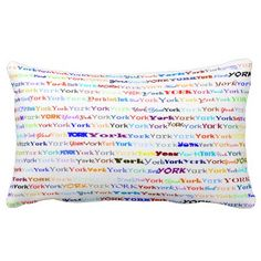 York Text Design II Lumbar Pillow