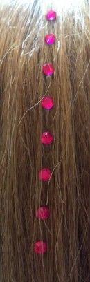 Fuschia pink hair diamonds  www.hairchalk.co.uk £2.79