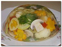 Заливное из грибов и овощей — Кулинарная книга - рецепты, фото, отзывы