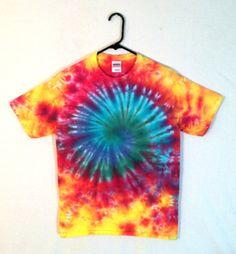 Tie Dye Tshirt  Psychedelic Spiral Galaxy  by RainbowEffectsTieDye, $13.00