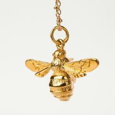 Stunning bee pendant, via DTLL.