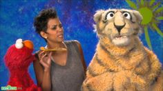 Sesame Street: Halle Berry and Elmo - Nibble little kids of ESL just love these Sesame St clips!