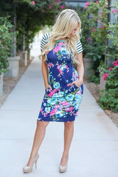 Hello Floral T-Shirt Dress! We welcome all things comfy to our wardrobe!   http://ss1.us/a/L5f7uDDc