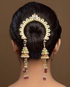 Tasseled Jhumki Jooda Pin by Bansri Joaillerie: