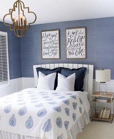 """I'm sharing this beautiful teen bedroom by Kris @drivenbydecor. I'm looking for inspiration for my daughters room. She asked me last night when I'm going to """"update"""" it. We were prom dress shopping and I'm freaking out about how fast they grow up! I love love that Kris used these Taylor Swift art prints from Etsy in her daughters room, it has the perfect amount of sophistication with out being too grown up! Check her out for more inspiration!"""
