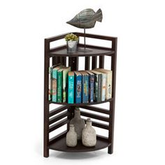 Thales 3-Shelf Corner Display (Mahogany Finish)