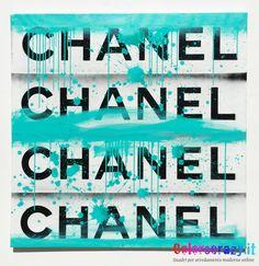 Quadro Chanel dipinto a mano su tela, acquista su www.colorscrazy.it