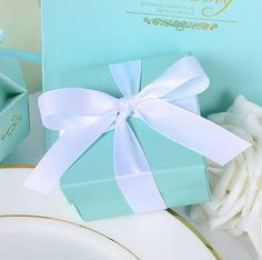 Name co personalized fashion shower curtain tiffany blue tiffany blue gold favor gift box tiffany negle Gallery
