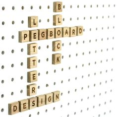 Block wooden pegboard letters. Use to customise and personalise Block pegboards; write messages, create a family noticeboard or have a game of scrabble!