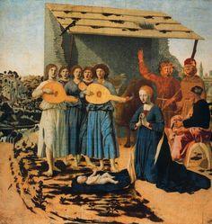 La Natividad  Pintor: Piero Della Francesca National Gallery. Londres