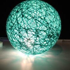 The #nightlamp for my nephew :))) #lampa #lamba #lamp #nocnalampka #isiktoplari #yarnball #stringball #pamuktopu #gecelambası #lights #handmade #selfmade #diy #pamuktopu #pamuktoplari #pamuktopuışıklar