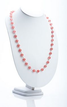 Long Beaded Necklace (Pictured in Cherry Quartz). http://store.nightlightinternational.com/product_p/nc004.htm $59.99. Sale: $14.99. For Freedom's Sake.