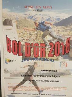 La 8ème édition du Bol d'Or se déroulera le samedi 23 et le dimanche 24 juin 2018 à Seyne les Alpes, c'est un événement incontournable du début de l'été qui se déroulera en plein cœur du village :)
