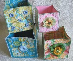 Geta's Quilting Studio: Fabric boxes
