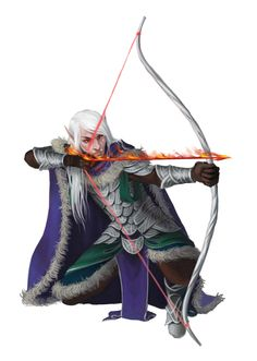 Male Elf Fighter Archer - Pathfinder PFRPG DND D&D d20 fantasy