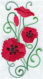 Machine Embroidery Designs at Embroidery Library! - Poppies