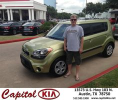 #HappyAnniversary to Chip Shadden on your 2013 #Kia #Soul from Vance Messick at Capitol Kia!