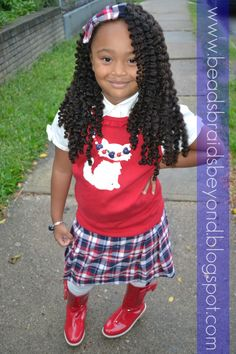 This is a twist out using Curls Whipped Cream. I think she had close to 30 twists in overnight for this look,
